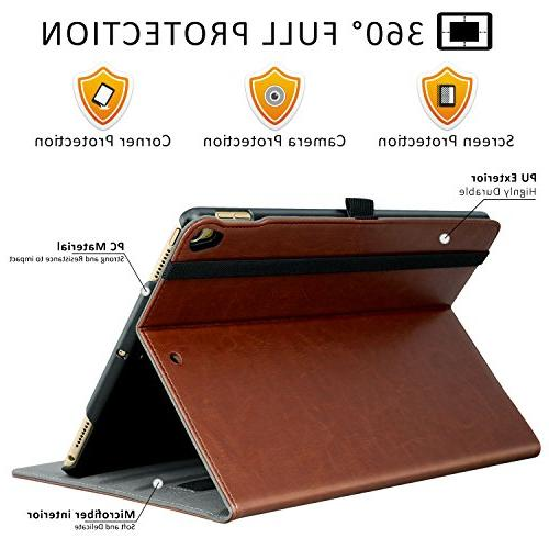 Ztotop Case iPad Pro 2017, Premium Business Slim Folding Stand Cover for New Tablet with Document Viewing