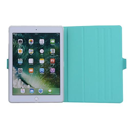 New iPad - Lightweight Cover Rotating Leather with TPU for Apple iPad iPad Pro Air 2, iPad Air - Green