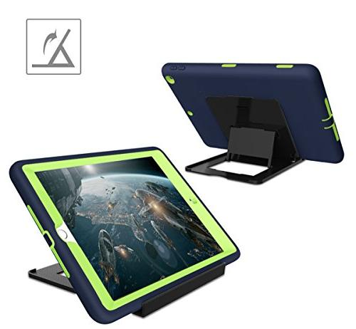 iPad 5th/6th Generation iPad 2018/2017 Hocase Shock Dual Layer Silicone+Hard Bumper Case for iPad Navy