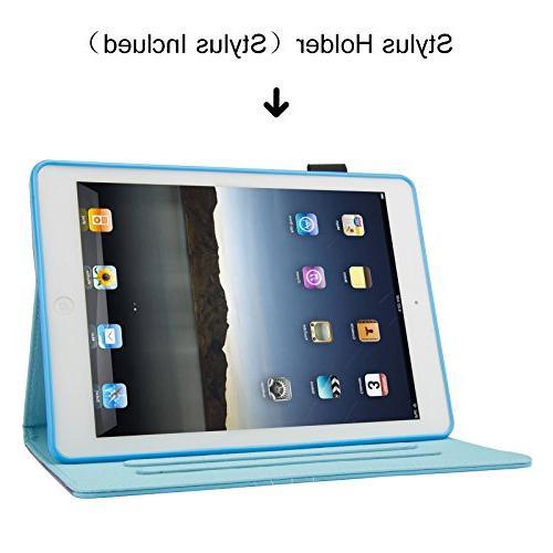 iPad 9.7 2017 Case/iPad Air PU Cover Auto Wake Case for iPad / 5th Gen,iPad Air 1/2, Live