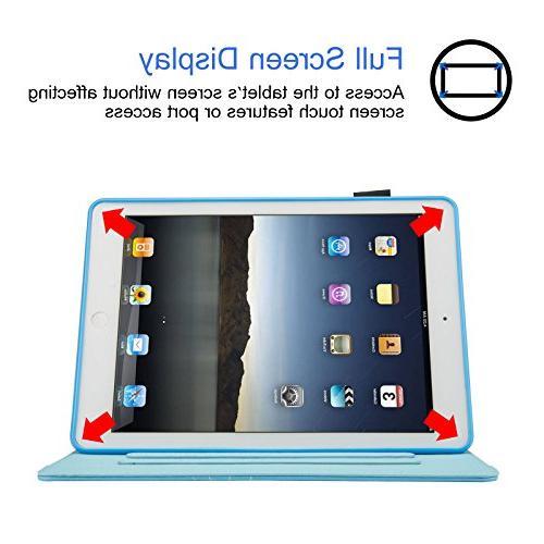 iPad 9.7 inch Air Dteck PU Cover Wake for / 5th 1/2, Beach