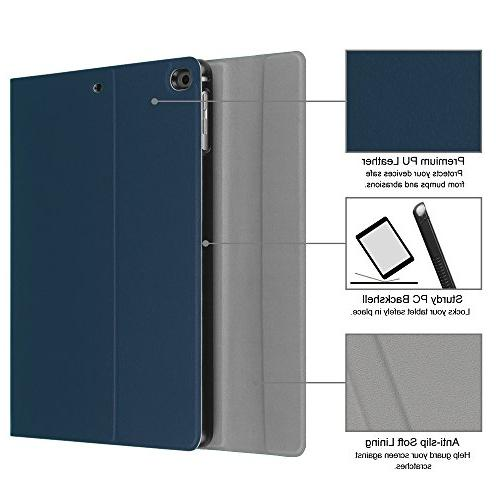 Fintie 2018/2017 / 2 Case Wireless Bluetooth iPad / 5th Gen, iPad Air 1/2, Navy