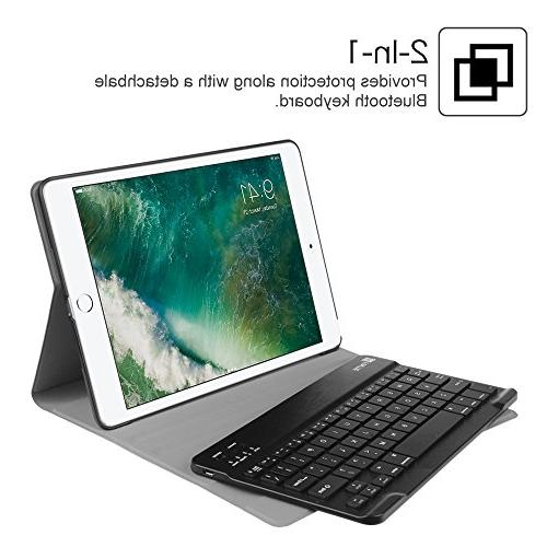 Fintie iPad 2018/2017 / / Keyboard Case - Stand Cover w/Magnetically Wireless Bluetooth iPad 6th / Gen, iPad Air Navy