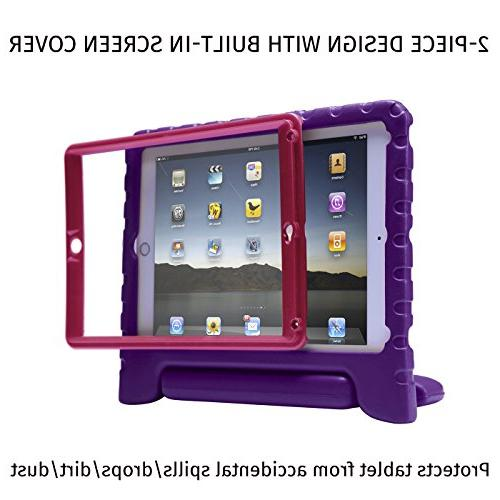 HDE Case iPad 9.7-inch Kids Bumper Cover w/ Built Screen for New Apple iPad 9.7 Inch 5th Purple