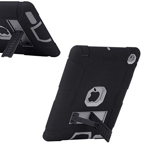 iPad 2 3 Case, Case, Duty Rugged Shockproof High Layer Armor Full Protective Apple iPad Gen,Black/Gray