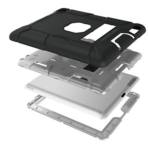 iPad 3 Case, Case, BENTOBEN Heavy Duty Shockproof Impact Resistant Three Layer Armor Protective Case for iPad Gen,Black/Gray