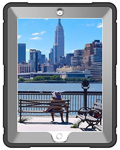 iPad 3 iPad Case, BENTOBEN Duty Rugged Shockproof Impact Hybrid Layer Full Body Protective iPad Gen,Black/Gray