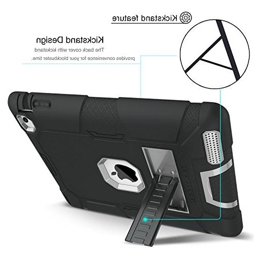 iPad 2 Case, 3 Case, Heavy Duty Rugged Shockproof Impact Layer Armor Full Body Protective iPad