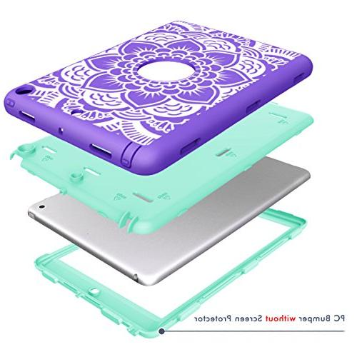 iPad Hocase Duty Absorbent Plastic Layer Floral Print and for -