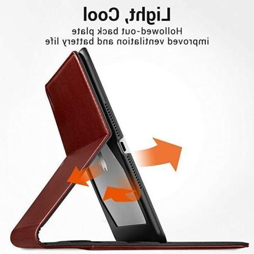 ESR 6th/Pro Brown Espresso Leather Folio Pencil Stand Case NIB