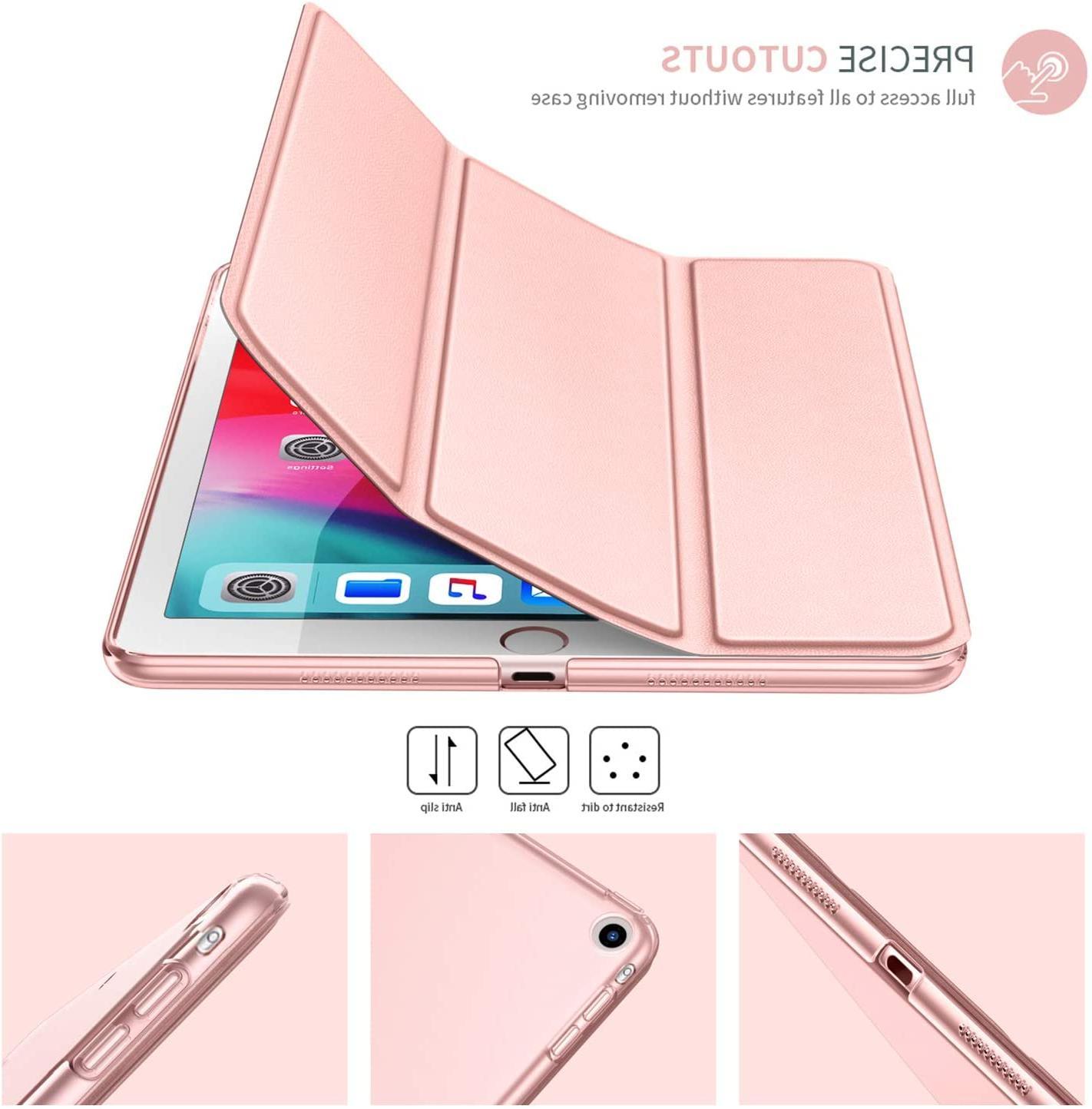 iPad 5 2019 5th Shell Case Tri-Fold Flip Smart Stand