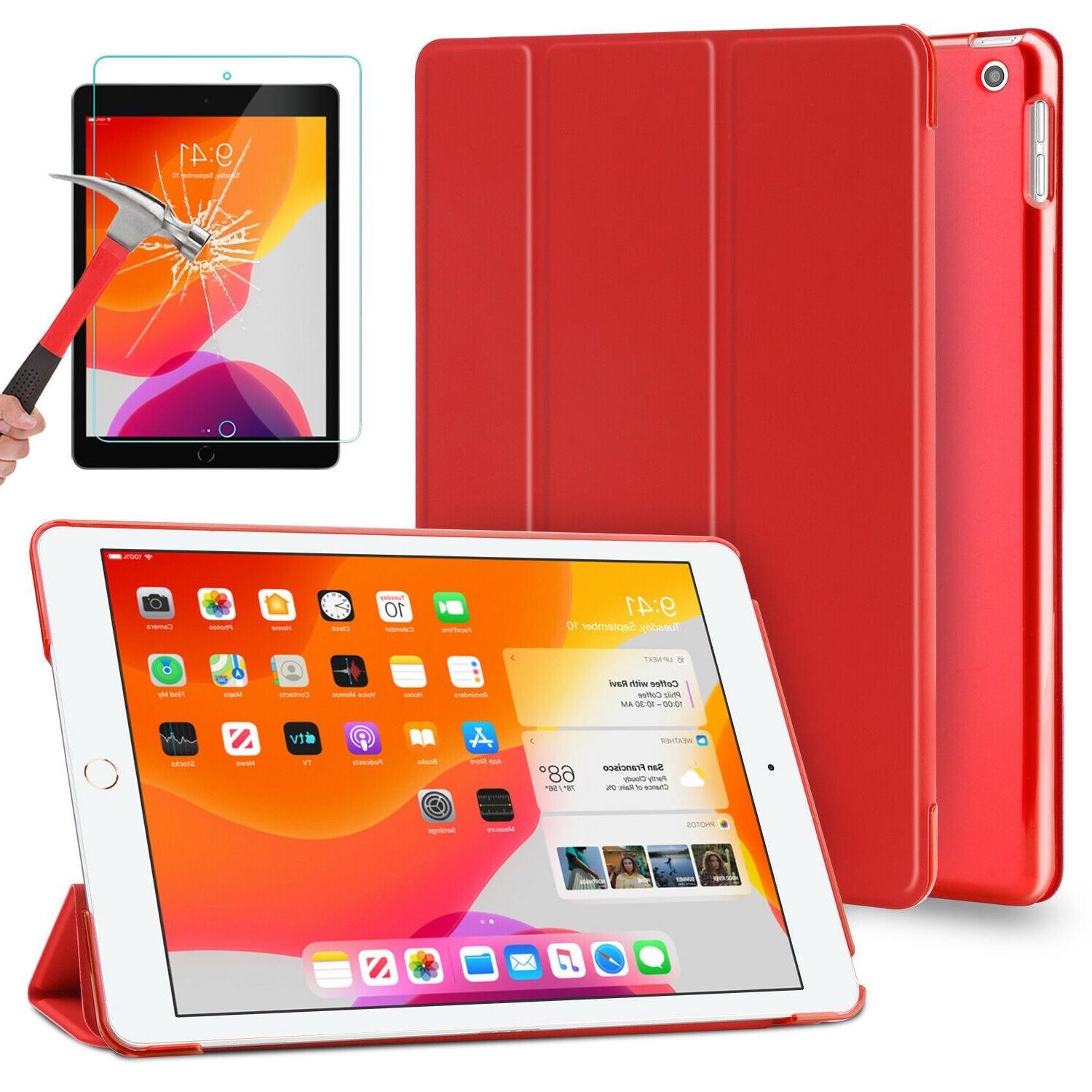 For iPad Generation Case Cover+Tempered Glass