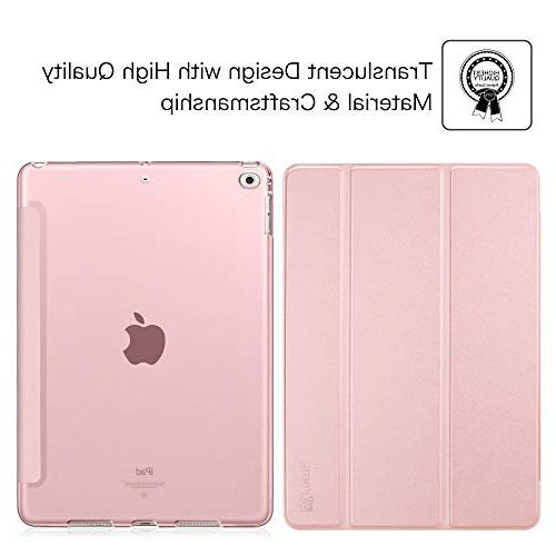 Fintie 9.7 Case Slim Shell Frosted Back Protector Auto Apple iPad 9.7 6th 5th Generation, Gold