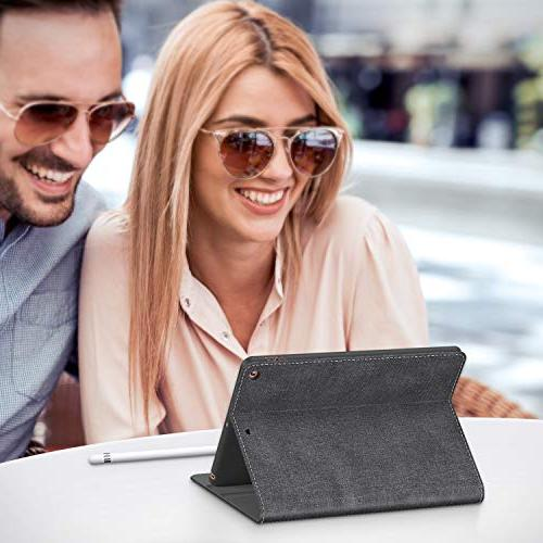 TORRAS New 2018/2017 Faded Up Adjustable Stand Folio Case with The New iPad 5th iPad -