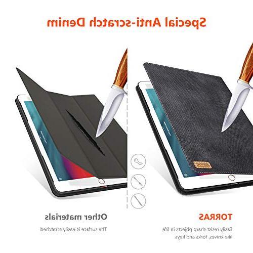 TORRAS 2018/2017 Case, Faded Slim Auto Up Stand Folio Case New iPad 5th / iPad Black