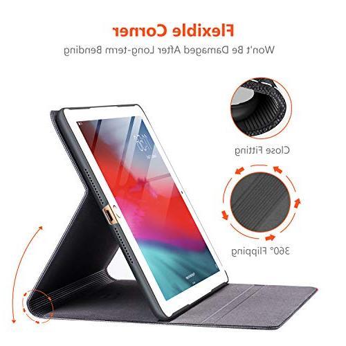 TORRAS New 2018/2017 Up Folio Case New iPad 5th iPad Generation Black