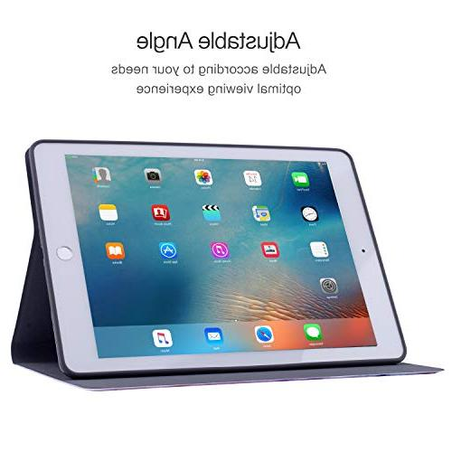 iPad 2018/2017 iPad Air 2, iPad Air Case, TPU Cover, Drop Folio Wake/Sleep Case
