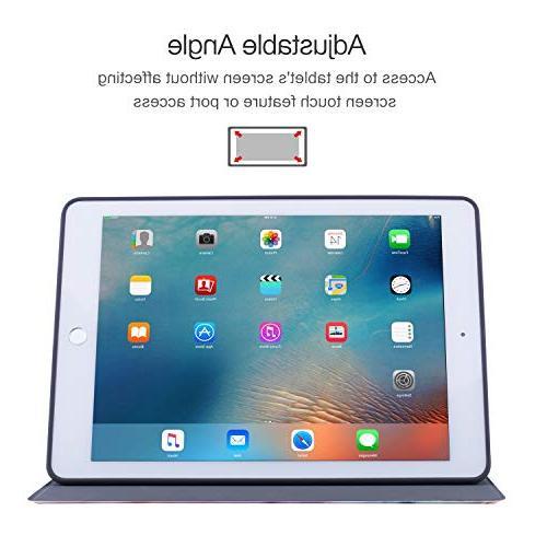iPad 2018/2017 Air Case, Vimorco TPU Back Drop Case, Adjustable Wake/Sleep Smart
