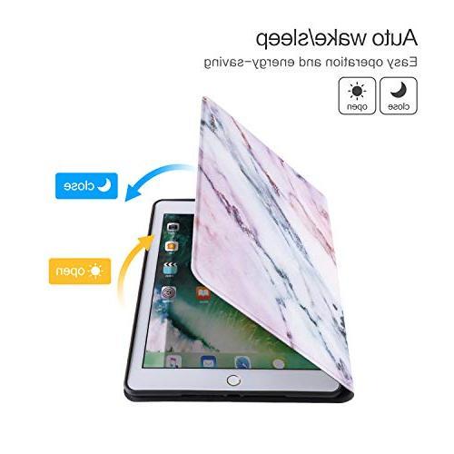 iPad Case, iPad 2, iPad Air Case, Soft TPU Back Drop Resistance Wake/Sleep Smart