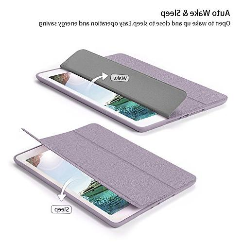 Soke 2018/2017 Case with Pencil Holder, Lightweight Case Trifold Stand with Soft TPU Back and for iPad