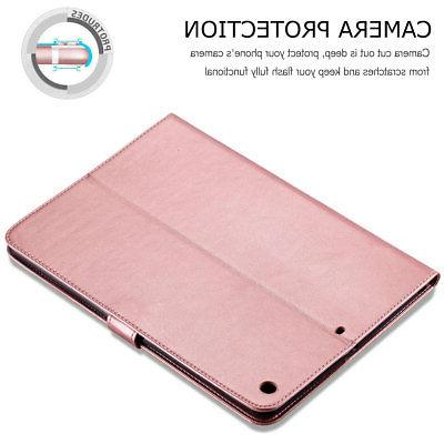 For iPad 2017 5th Gen A1822 Smart Leather Wallet Cover