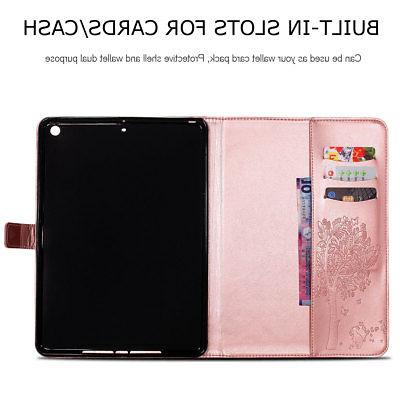 For iPad 9.7 5th Smart Leather Wallet Case Cover