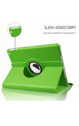 """For 9.7 / 7th 10.2"""" Rotating Smart Stand Case"""