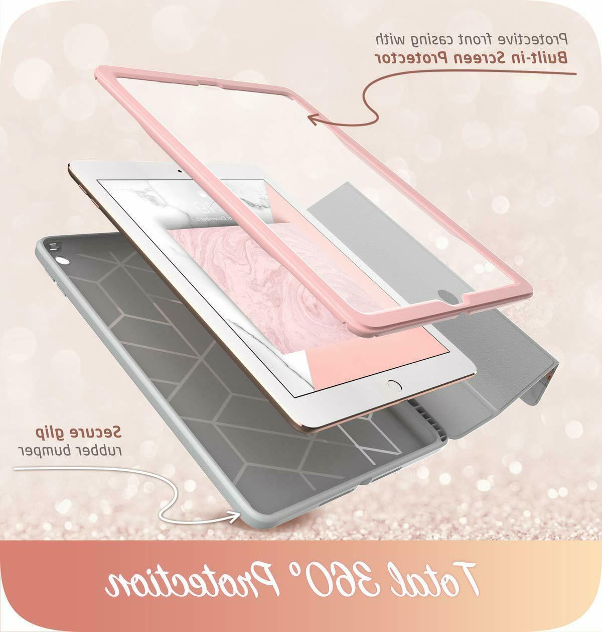 """iPad 9.7"""" Case i-Blason FullBody Trifold Stand Cover+Screen Protector"""