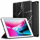 ESR iPad 9.7 Case Black Leather stand marble pattern auto sl