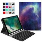 For iPad 6th Gen 9.7 inch 2018 Tablet Keyboard Case TPU Back