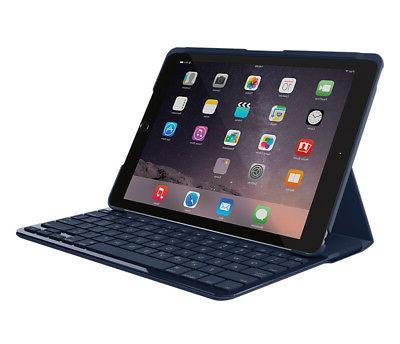 """Logitech iPad 9.7"""" Slim Folio Bluetooth Keyboard Blue iPad 5th 6th"""