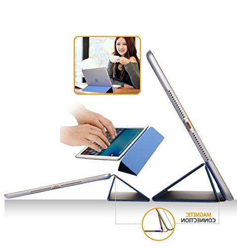 Dyasge Case Cover Wake and Tri-fold iPad Air Blue