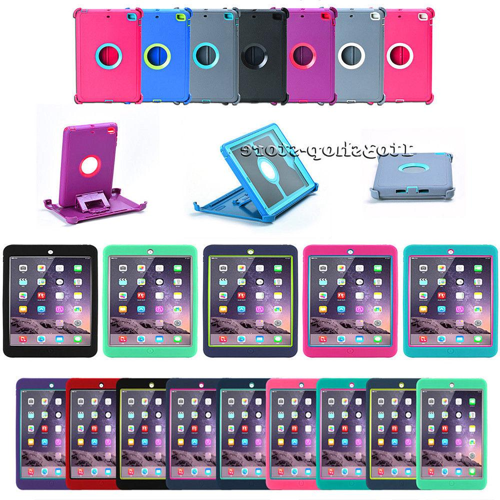 iPad Mini 4 Shockproof Hard Shell Snap Case w/Stand Cover fi