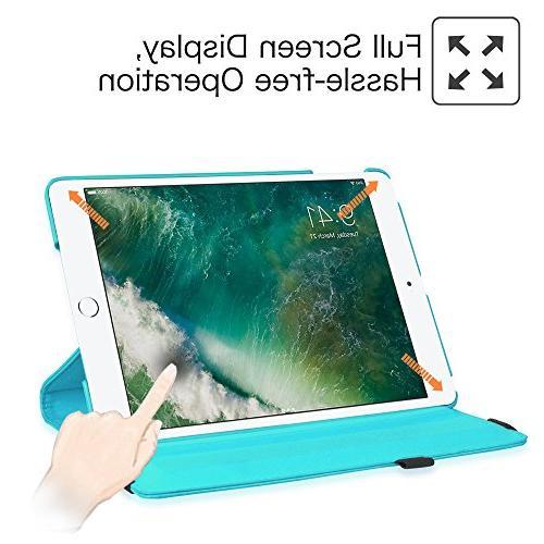 "Fintie iPad 2018 2017 / Air Degree Rotating Cover with Wake Apple iPad 9.7"" iPad 2013 Model,"