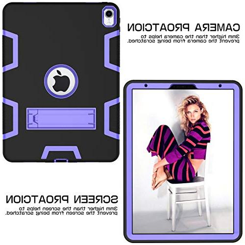 """iPad Pro 11"""" 2018 Release - - in Rugged Shockproof Heavy Duty High Resistant Cover for iPad Pro 11 Inch 2018 Black/Purple"""