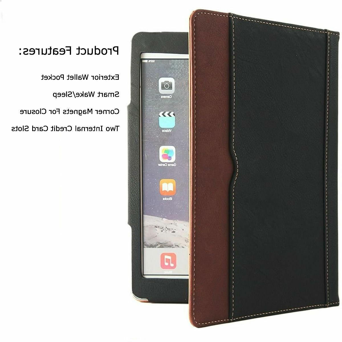 """iPad 10.2"""" 2019 Leather Cover Wallet Sleep For"""