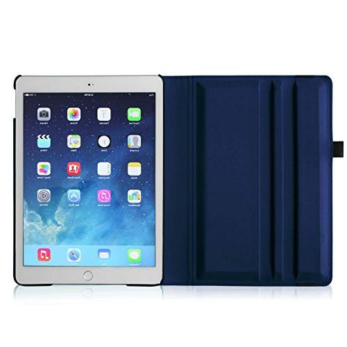 Fintie iPad Air Case 360 Rotating Stand Case with Smart / Navy