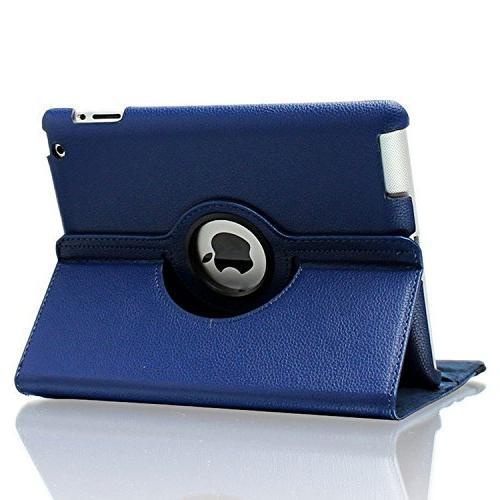 iPad 2 iPad 3 iPad Case, AiSMei Case Cover Up/Sleep For 2, iPad 4 Navy