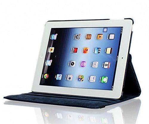 iPad 3 iPad Case, Rotating Case Up/Sleep Apple 2, iPad 3, 4 Navy