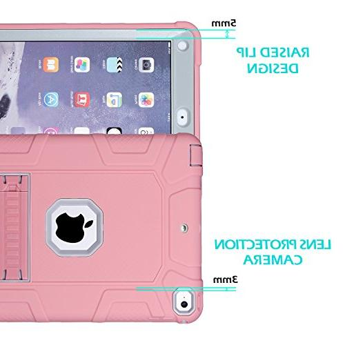 iPad 6th iPad 2018 9.7 Case,Hybrid Rugged Drop Protection Built New iPad 9.7 A1893/A1954/A1822,/A1823