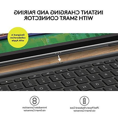 Logitech iPad Pro inch | SLIM Backlit, Wireless Keyboard Smart Connector
