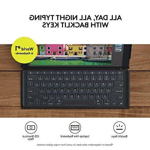Logitech inch Case | SLIM COMBO Backlit, Wireless Keyboard and Smart