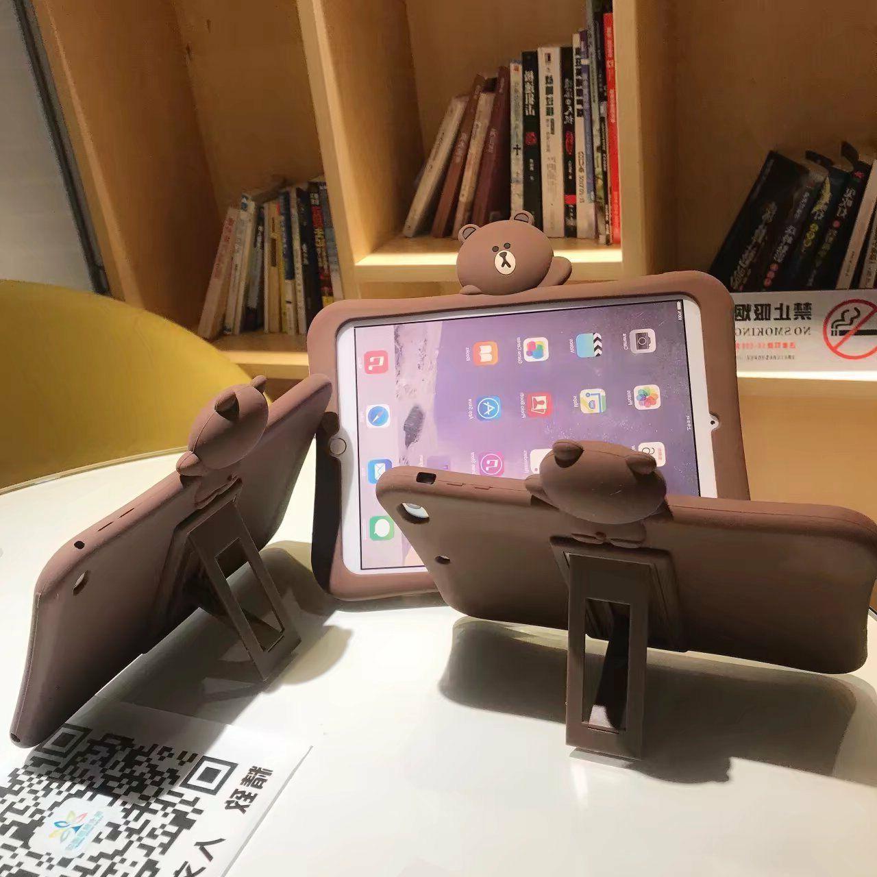 For iPad Mini 1/2/3/4/5/6 Pro Case Cute 3D Cartoon Animal So