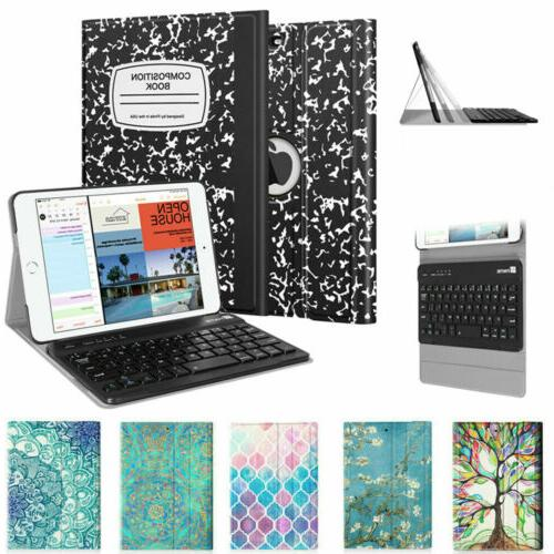 For iPad mini 4 3 2 1 SlimShell Case Stand Cover + Wireless