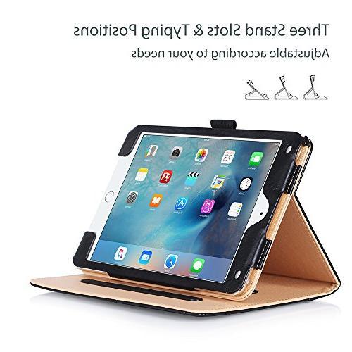 ProCase Mini Folio for 2015 Apple iPad Mini 4 , with Viewing Angles, auto Sleep/Wake, Document