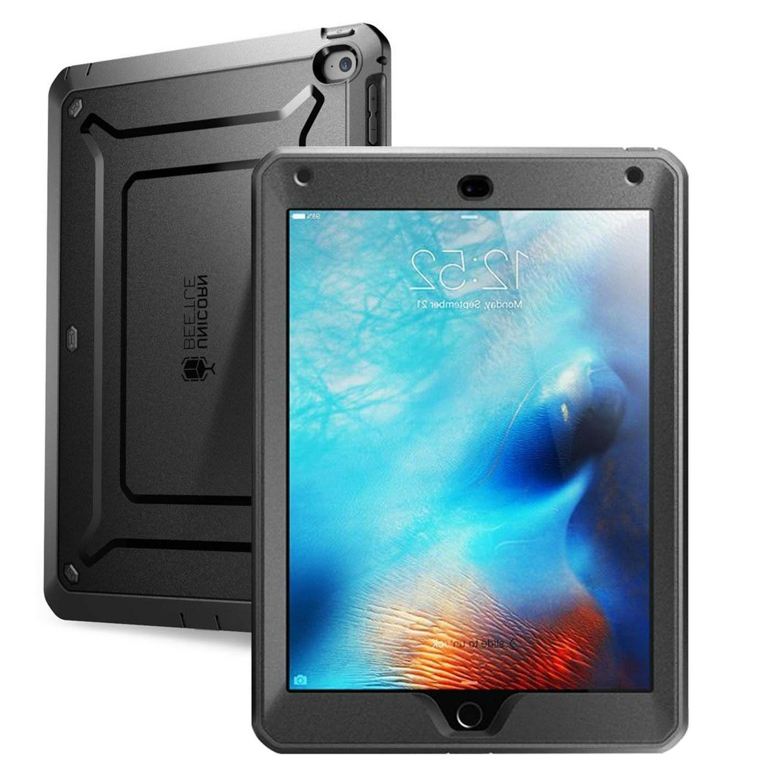 iPad Mini 4 Case | Black Unicorn Beetle Supcase with Built-i