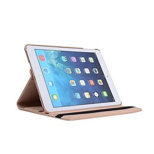 iPad Case, Mini Case, Mini Rotating Case Cover For Apple / with mini 3,7.9-Inch Covers Gold