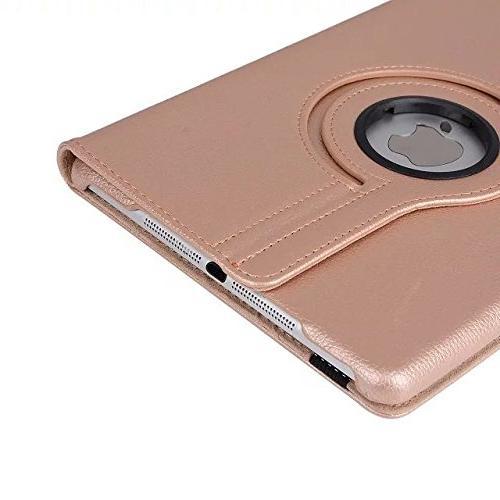 iPad Case, Mini Case, iPad Mini 3 Rotating Cover For / iPad with Retina / iPad mini Covers Gold