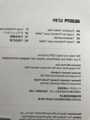 ESR Ipad Pro 11 Inch Smart Folio Case Black