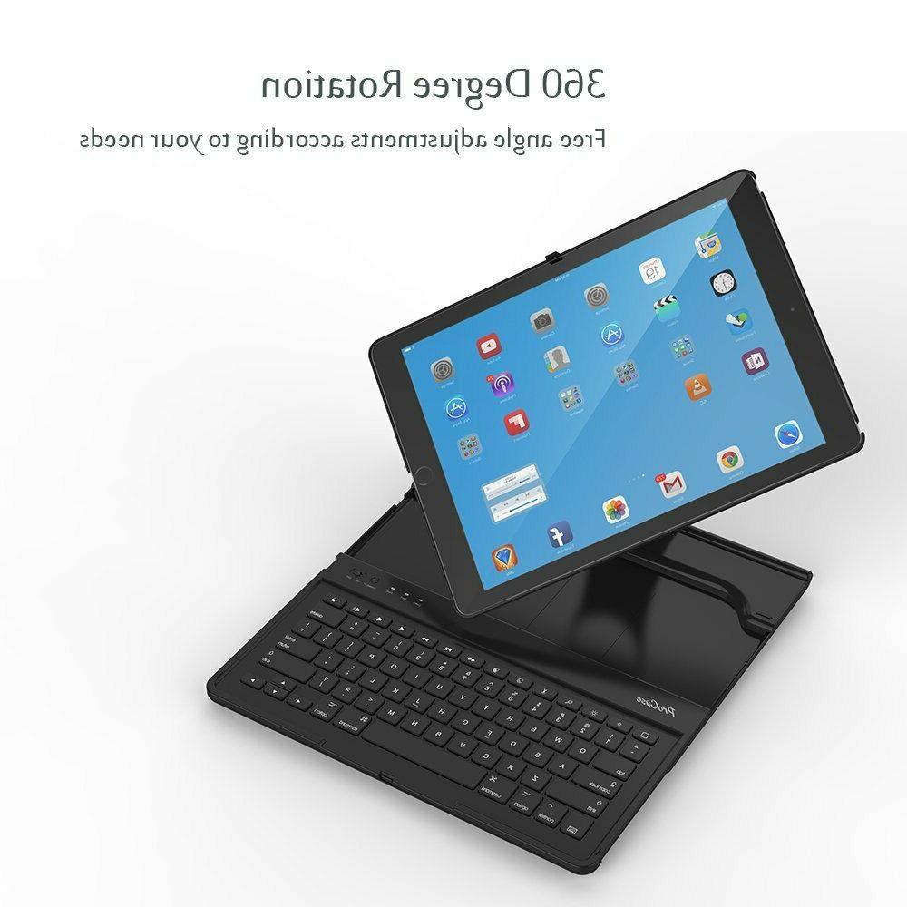 iPad Pro 12.9 1st Gen 2015 Keyboard Folio Case Rotation Mult